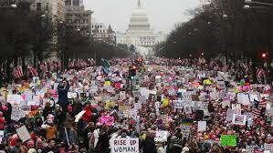 Women's March draws huge numbers